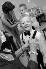 pageboys getting suited up